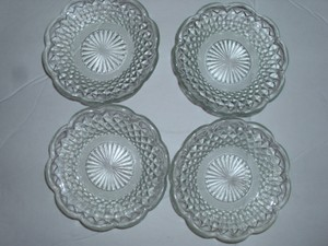 Clear Vintage Cut Glass Candle Holders Trinkets Pretty Decoration