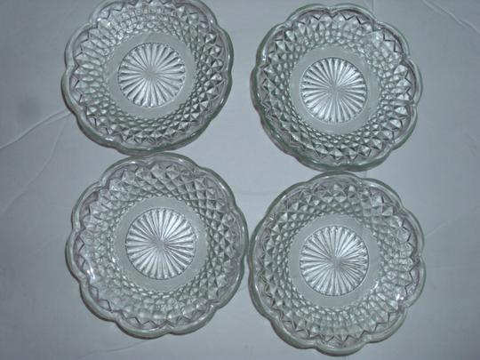 Clear Transparent Etched Cut Glass Candle Crystal Trinket Jewelry Candy Dish Coasters Etc