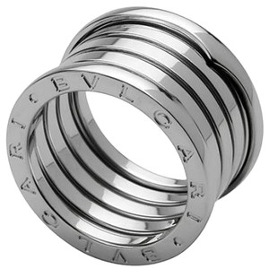 BVLGARI Bulgari B.Zero1 18K White Gold 5 Band Ring AN191028 US 6.25