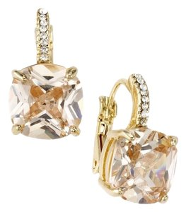 City by City Faux Champagne Cushion Cut Diamond Earring (Cubic Zirconia)
