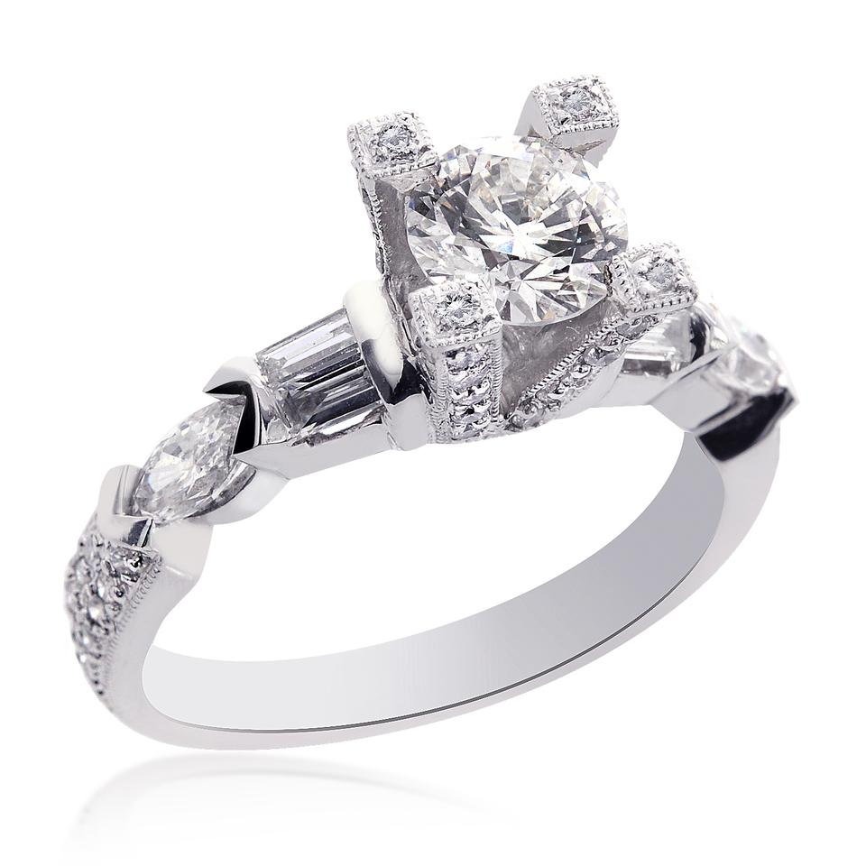 04 Carat Bands: Avital & Co Jewelry 18k White Gold 2.04 Carat D-si1