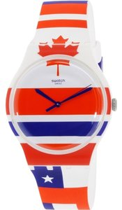 Swatch Swatch SUOW111 Men's Flagtime White Analog Watch
