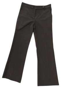 Tory Burch Stretch Wool Dress Flat Front Trouser Pants Brown