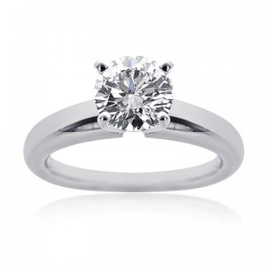 Avital & Co Jewelry 1.13 Carat G-vs2 Natural Round Cut Diamond Engagement Solitaire Ring Platinum