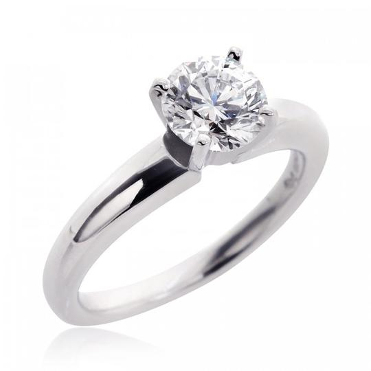 Avital & Co Jewelry G Vs2 1.13ct Natural Round Cut Diamond Solitaire Plat. Engagement Ring Image 1