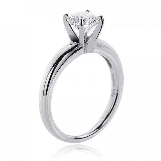 Avital & Co Jewelry G Vs2 1.13ct Natural Round Cut Diamond Solitaire Plat. Engagement Ring Image 2