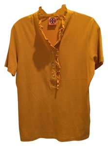 Tory Burch Shirt Size L Button Down Shirt Mustard