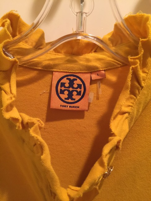 Tory Burch Shirt Size L Button Down Shirt Mustard Image 1