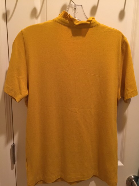 Tory Burch Shirt Size L Button Down Shirt Mustard Image 2