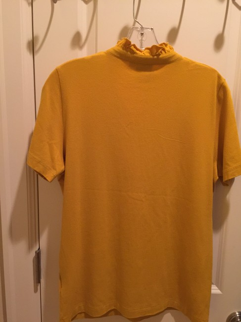 Tory Burch Shirt Size L Button Down Shirt Mustard Image 3