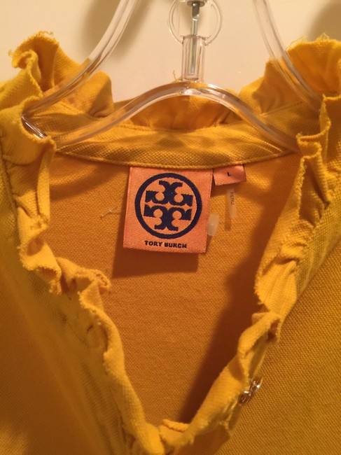 Tory Burch Shirt Size L Button Down Shirt Mustard Image 4