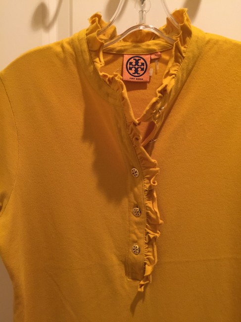 Tory Burch Shirt Size L Button Down Shirt Mustard Image 5