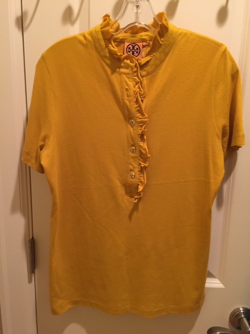 Tory Burch Shirt Size L Button Down Shirt Mustard Image 6