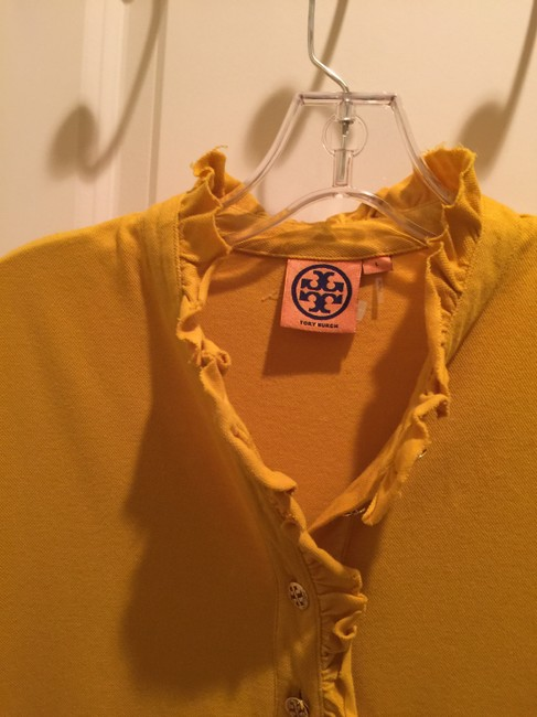 Tory Burch Shirt Size L Button Down Shirt Mustard Image 7