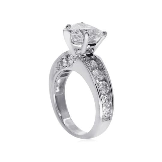 Avital & Co Jewelry J Si2 3.47ct Natural Heart Diamond 14k White Gold Engagement Ring Image 1