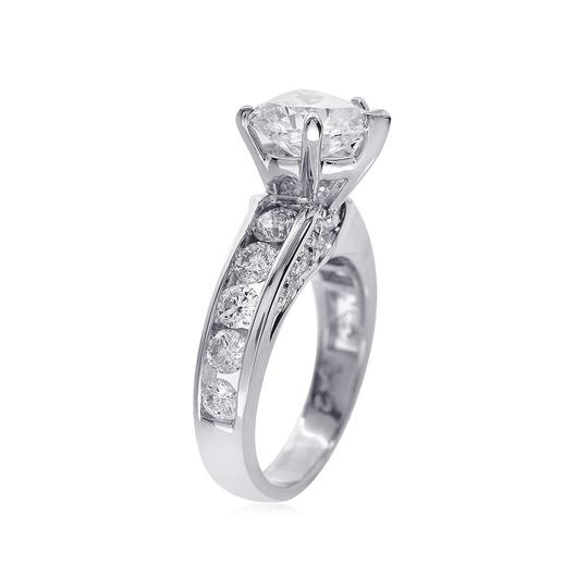 Avital & Co Jewelry J Si2 3.47ct Natural Heart Diamond 14k White Gold Engagement Ring Image 2