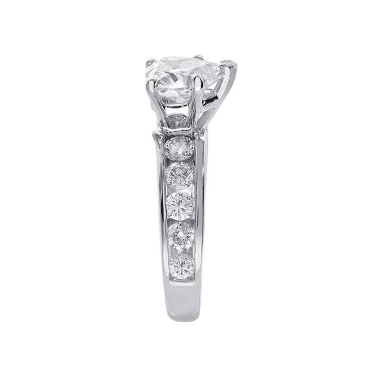 Avital & Co Jewelry J Si2 3.47ct Natural Heart Diamond 14k White Gold Engagement Ring Image 3