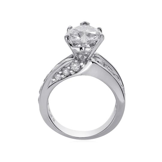 Avital & Co Jewelry J Si2 3.47ct Natural Heart Diamond 14k White Gold Engagement Ring Image 4