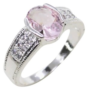 NEW! Silver and Pink Topaz Ring