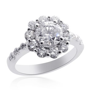 Avital & Co Jewelry 2.23 Carat G-si1 Natural Round Diamond Halo Engagement Ring 18k Wg