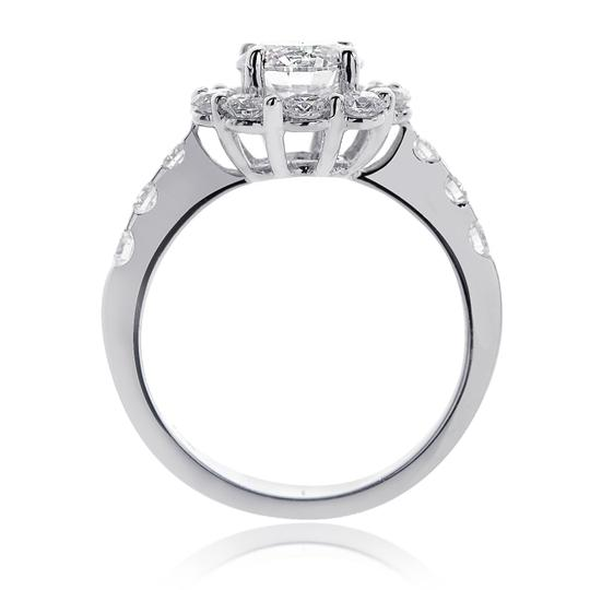 Avital & Co Jewelry G Si1 Enhanced Feather Filled 2.23 Carat Natural Round Diamond Halo 18k Wg Engagement Ring Image 2