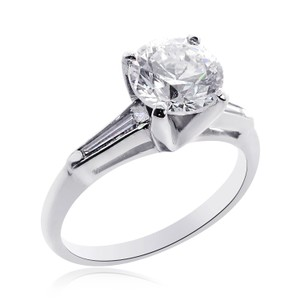 Avital & Co Jewelry 2.03 Carat I-si2 Natural Round Brilliant Cut Diamond Engagement Ring Platinum