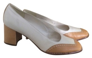 Stuart Weitzman Cream n brown Wedges
