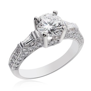 Avital & Co Jewelry 2.28 Carat I-si1 Natural Round Cut Diamond Engagement Ring 14k White Gold
