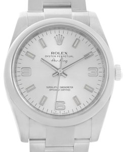 Rolex Rolex Air King Silver Dial Oyster Bracelet Mens Watch 114200