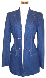 Escada Denim Denim Blue Blazer