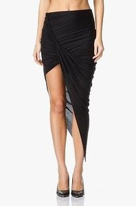 Helmut Lang Kinetic Jersey Skirt Black