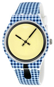 Swatch Swatch SUOW118 Men's Moitie Moitie Blue Analog Watch