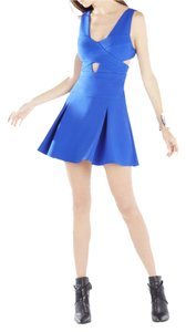 BCBGMAXAZRIA Cut Out Pleated Party Dress