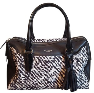Coach Satchel in Black, white, gray