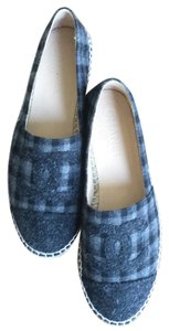 Chanel Grey and navy blue Flats