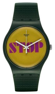 Swatch Swatch SUOG104 Unisex Stop Think Talk Green Analog Watch