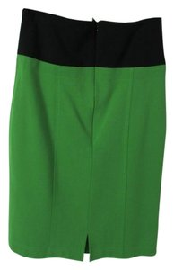Pencil Knee Length Skirt Green