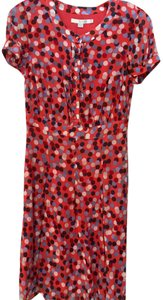 Boden short dress Coral with multi color dots Chiffon Work on Tradesy