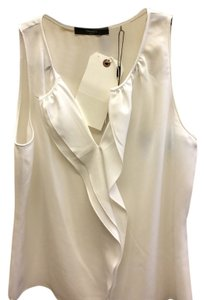 Tahari Sleeveless Polyester Top White