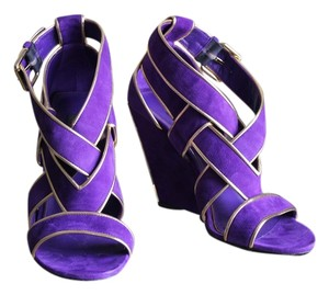 Louis Vuitton Lv Sandals Heels Violet Wedges