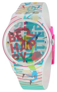 Swatch Swatch SUOZ196 Unisex Go Happy White Analog Watch