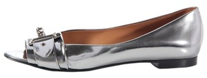 Herms Silver Metallic Palladium Flats