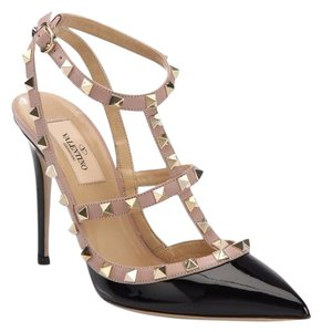 Valentino Patent Leather Studded Black Pumps