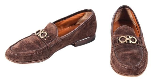 Item - Brown * Master Mens Suede Loafers 10w Formal Shoes Size US 10 Wide (C, D)