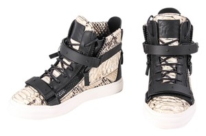 Giuseppe Zanotti Python High Top Sneakers Black/Ivory Athletic