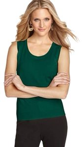August Silk Top Dark Green