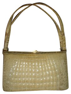 Other Crocodile Skin Belgium 1950's Large Shoulder Bag