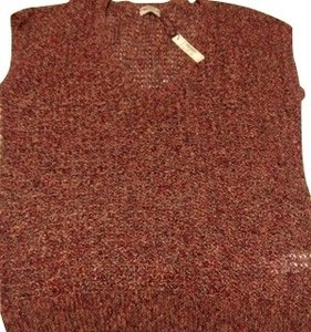 Madewell Top Brown, red, and orange