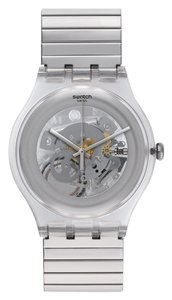 Swatch Swatch SUOK105FA Unisex Cleared up Silver Analog Watch