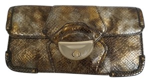 Botkier Handbag Evening Metallic Gold Clutch